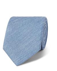 Мужской голубой шелковый галстук от Charvet