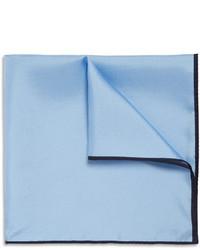 Мужской голубой шелковый нагрудный платок от Drakes