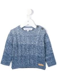 Детский голубой шерстяной вязаный свитер для девочке от Tartine et Chocolat