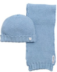Детский голубой шерстяной шарф для мальчиков от Armani Junior