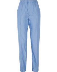 Голубые брюки-галифе