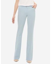 Голубые брюки-клеш