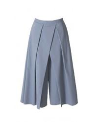 Голубые брюки-кюлоты