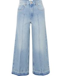 Голубые брюки-кюлоты от Isabel Marant Etoile