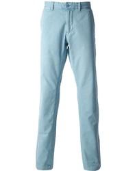 Голубые брюки чинос