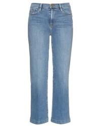 Голубые джинсовые брюки-кюлоты