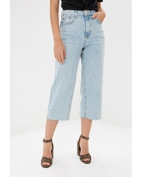 Голубые джинсовые брюки-кюлоты от Topshop
