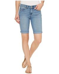 Голубые джинсовые шорты-бермуды