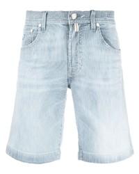 Мужские голубые джинсовые шорты от Jacob Cohen
