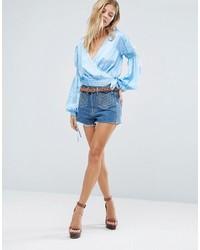 Женские голубые джинсовые шорты от Majorelle