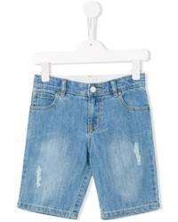 Детские голубые джинсовые шорты для мальчику от Stella McCartney