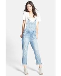 Голубые джинсовые штаны-комбинезон