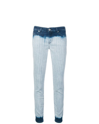 Голубые джинсы скинни с принтом тай-дай от Diesel Black Gold