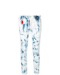 Голубые джинсы скинни с принтом тай-дай от Dsquared2
