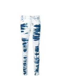 Голубые джинсы скинни с принтом тай-дай от Stella McCartney
