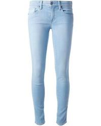 Голубые джинсы скинни