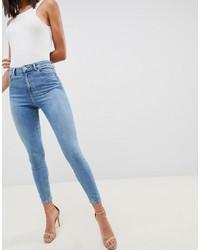 Голубые джинсы скинни от ASOS DESIGN