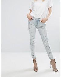 Голубые джинсы скинни от Blank NYC