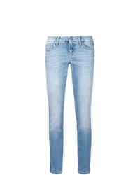 Голубые джинсы скинни от Cambio