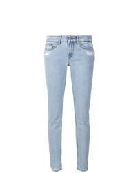 Голубые джинсы скинни от Dondup
