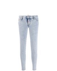 Голубые джинсы скинни от Dsquared2