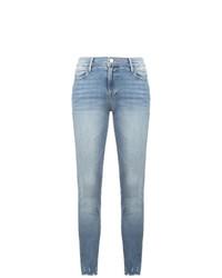 Голубые джинсы скинни от Frame Denim