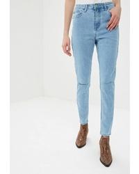 Голубые джинсы скинни от Glamorous