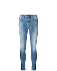 Голубые джинсы скинни от Marcelo Burlon County of Milan
