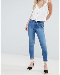 Голубые джинсы скинни от Miss Selfridge