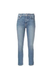 Голубые джинсы скинни от RE/DONE