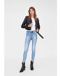 Голубые джинсы скинни от Stradivarius