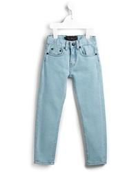 Детские голубые джинсы для девочек от Finger In The Nose