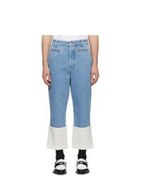 Мужские голубые джинсы от Loewe