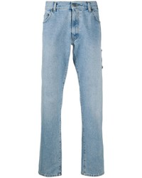 Мужские голубые джинсы от Moschino
