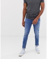 Мужские голубые зауженные джинсы от Jack & Jones