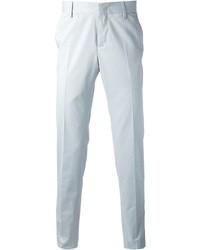 Голубые классические брюки