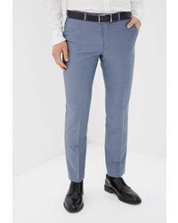Мужские голубые классические брюки от Absolutex