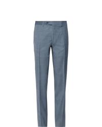 Мужские голубые классические брюки от Canali