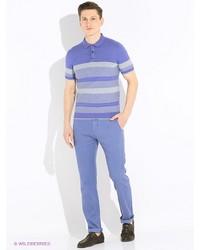Мужские голубые классические брюки от Gualtiero