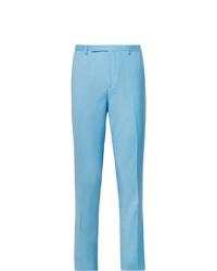 Мужские голубые классические брюки от Paul Smith