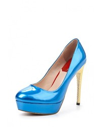Голубые кожаные туфли от Elsi