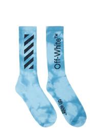Мужские голубые носки c принтом тай-дай от Off-White