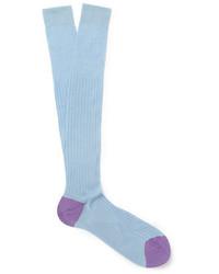 Мужские голубые носки