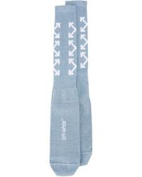 Женские голубые носки от Off-White
