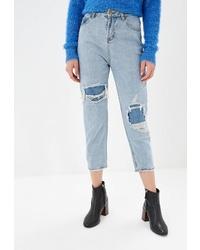 Голубые рваные джинсы-бойфренды от MiraSezar