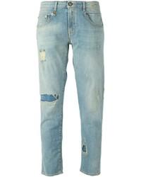 Голубые рваные джинсы-бойфренды от R 13