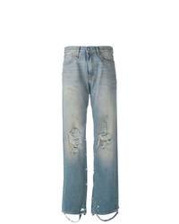 Голубые рваные джинсы-бойфренды от R13
