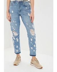 Голубые рваные джинсы-бойфренды от Silvian Heach