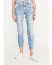 Голубые рваные джинсы скинни от Colin's