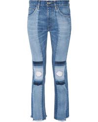 Голубые рваные джинсы скинни от Facetasm